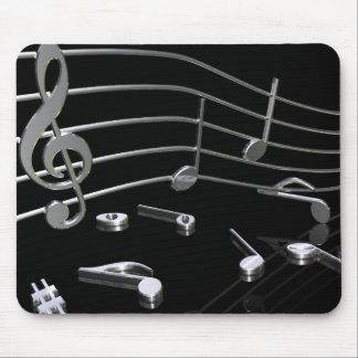 Noten, Musik, schwarz . Mousepad - Mauspad
