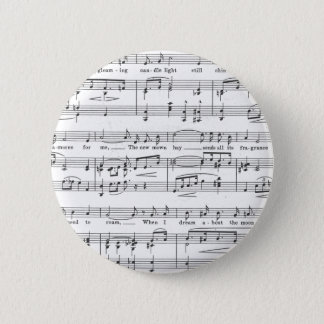 Notenen-Schwarzweiss-Muster Runder Button 5,7 Cm