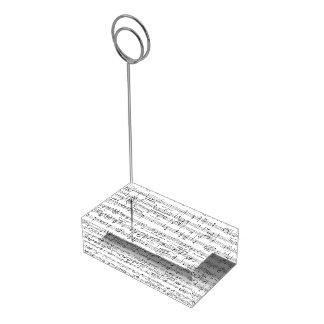 Notenen-Schwarzweiss-Muster Tischnummernhalter