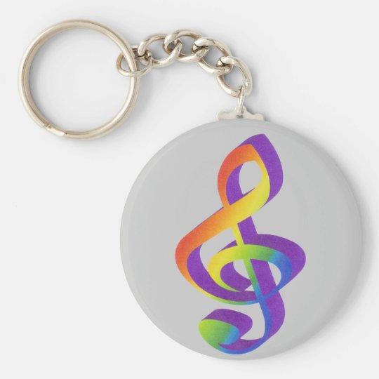 Notenschlüsselschlüsselanhänger Schlüsselanhänger