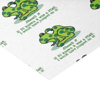 Notfall Froggie Seidenpapier