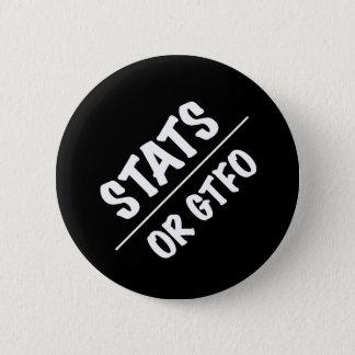Notfall oder GTFO (weißer Text) Runder Button 5,7 Cm