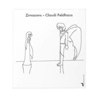 """Notizblock mit einer Illustration aus """"Zimazans"""""""