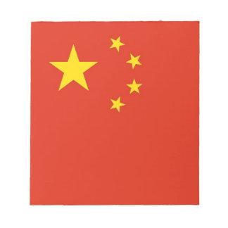Notizblock mit Flagge der China