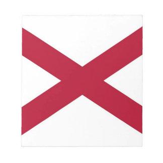 Notizblock mit Flagge von Alabama