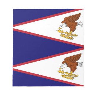 Notizblock mit Flagge von American Samoa