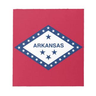 Notizblock mit Flagge von Arkansas-Staat