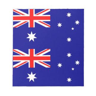 Notizblock mit Flagge von Australien