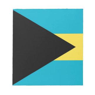 Notizblock mit Flagge von Bahamas