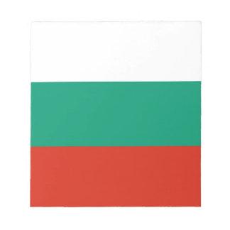 Notizblock mit Flagge von Bulgarien