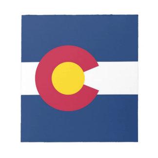 Notizblock mit Flagge von Colorado-Staat