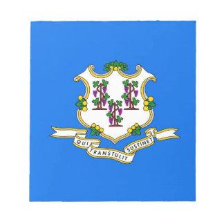 Notizblock mit Flagge von Connecticut-Staat