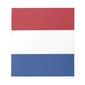 Notizblock mit Flagge von den Niederlanden