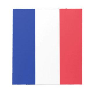 Notizblock mit Flagge von Frankreich