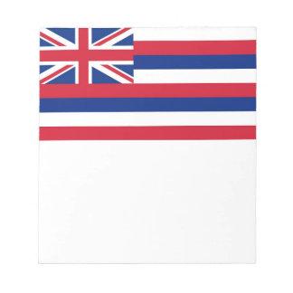 Notizblock mit Flagge von Hawaii-Staat
