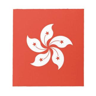 Notizblock mit Flagge von Hong Kong, China