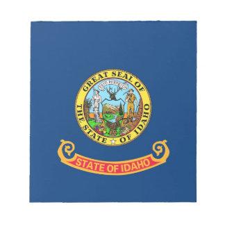 Notizblock mit Flagge von Idaho-Staat