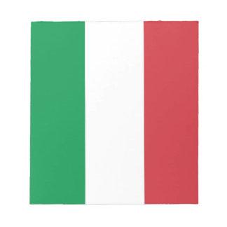 Notizblock mit Flagge von Italien