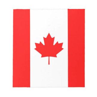 Notizblock mit Flagge von Kanada