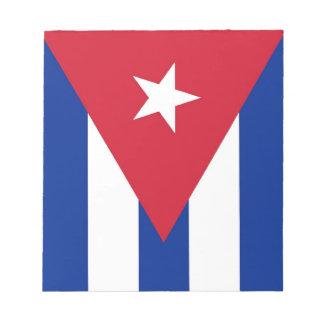 Notizblock mit Flagge von Kuba