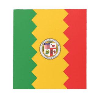 Notizblock mit Flagge von Los Angeles,