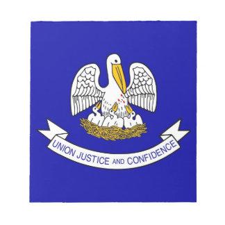 Notizblock mit Flagge von Louisiana-Staat