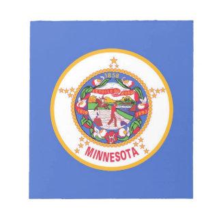 Notizblock mit Flagge von Minnesota-Staat