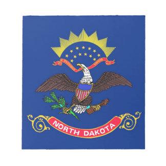 Notizblock mit Flagge von North- DakotaStaat