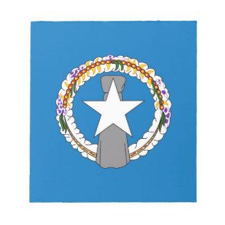 Notizblock mit Flagge von Northern Mariana Islands