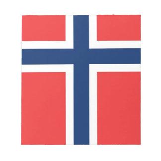 Notizblock mit Flagge von Norwegen
