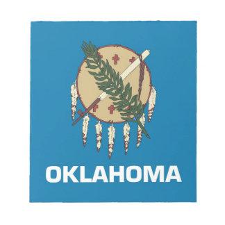 Notizblock mit Flagge von Oklahoma-Staat