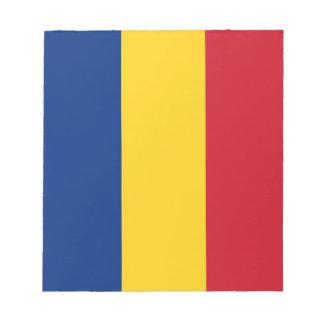 Notizblock mit Flagge von Rumänien