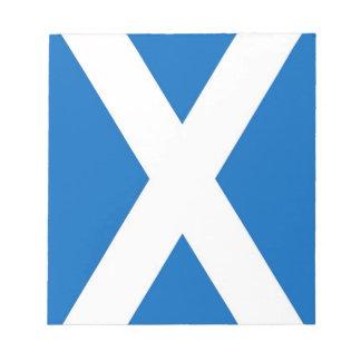 Notizblock mit Flagge von Schottland