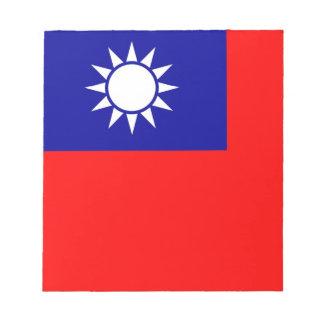 Notizblock mit Flagge von Taiwan