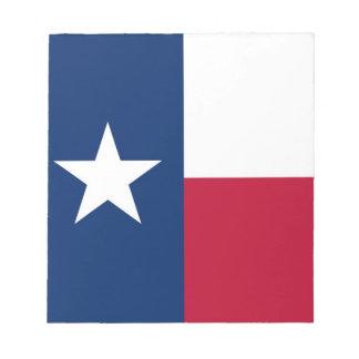 Notizblock mit Flagge von Texas-Staat