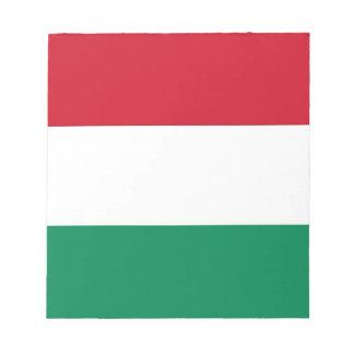 Notizblock mit Flagge von Ungarn