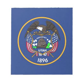 Notizblock mit Flagge von Utah-Staat