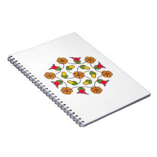 Notizbuch-Blume Series#63 Spiral Notizblock