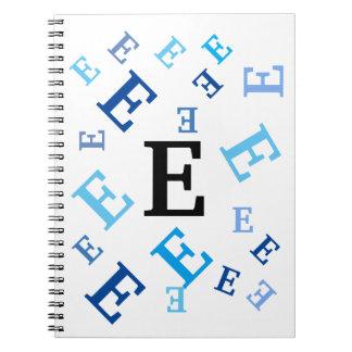 Notizbuch - durcheinandergebrachte blaue