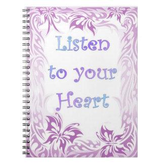 Notizbuch - folgen Sie immer Ihrem Herzen Notizblock