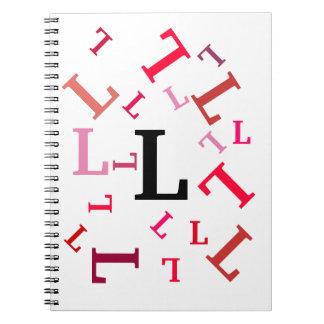 Notizbuch - gestolperte rote Buchstaben