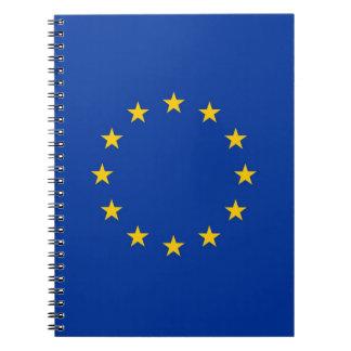 Notizbuch mit Flagge der europäischen Gewerkschaft Spiral Notizblock