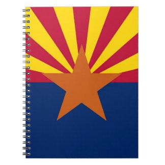 Notizbuch mit Flagge von Arizona-Staat Notizblock