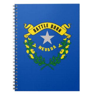 Notizbuch mit Flagge von Nevada-Staat Notizblock