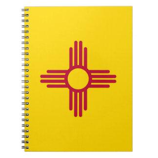 Notizbuch mit Flagge von New-Mexiko Staat Spiral Notizblock
