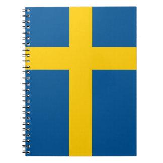 Notizbuch mit Flagge von Schweden