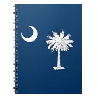 Notizbuch mit Flagge von South- CarolinaStaat Spiral Notizblock