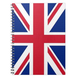 Notizbuch mit Flagge von Vereinigtem Königreich Notizblock