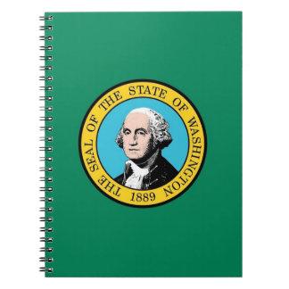 Notizbuch mit Flagge von Washington-Staat Notizblock