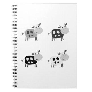 Notizbuch mit niedlichen Kühen Notizblock